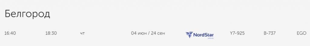 В Норильск и Белгород из Нижнего!